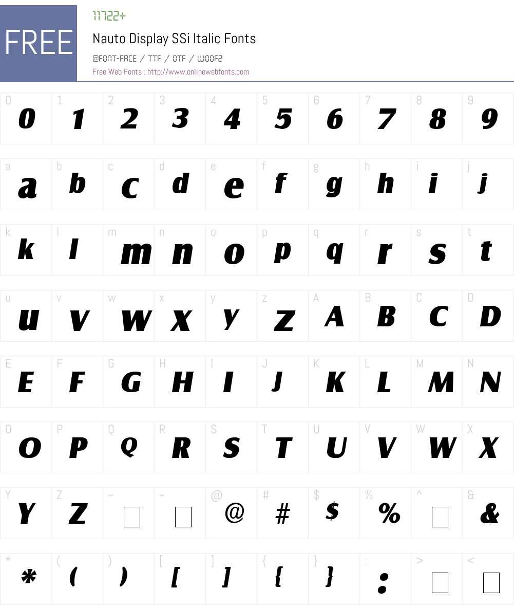 Nauto Display SSi Font Screenshots
