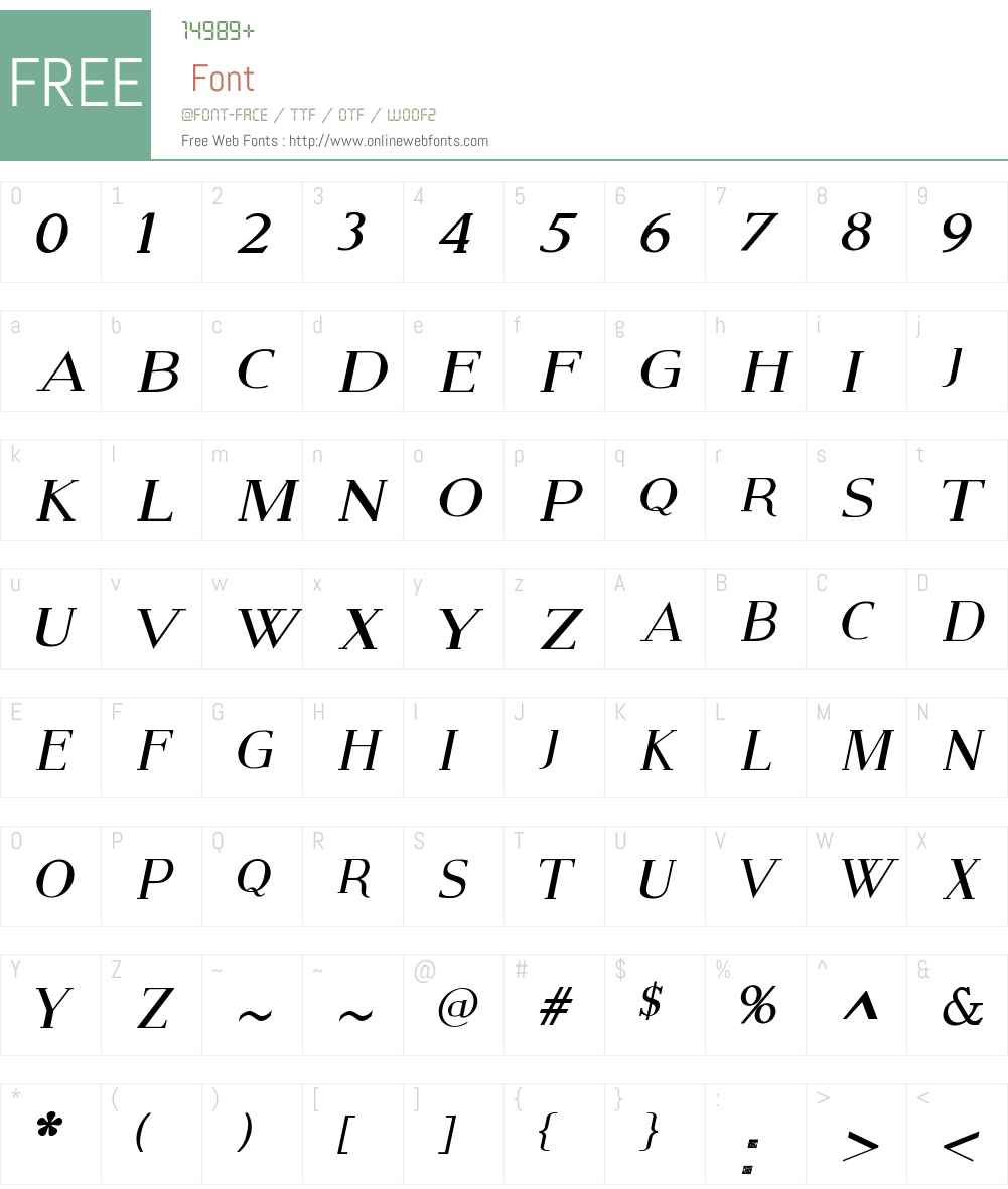 Modern Serif Font Screenshots