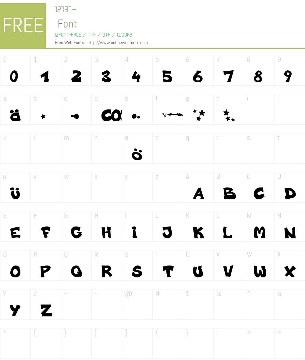 codygraff Font Screenshots