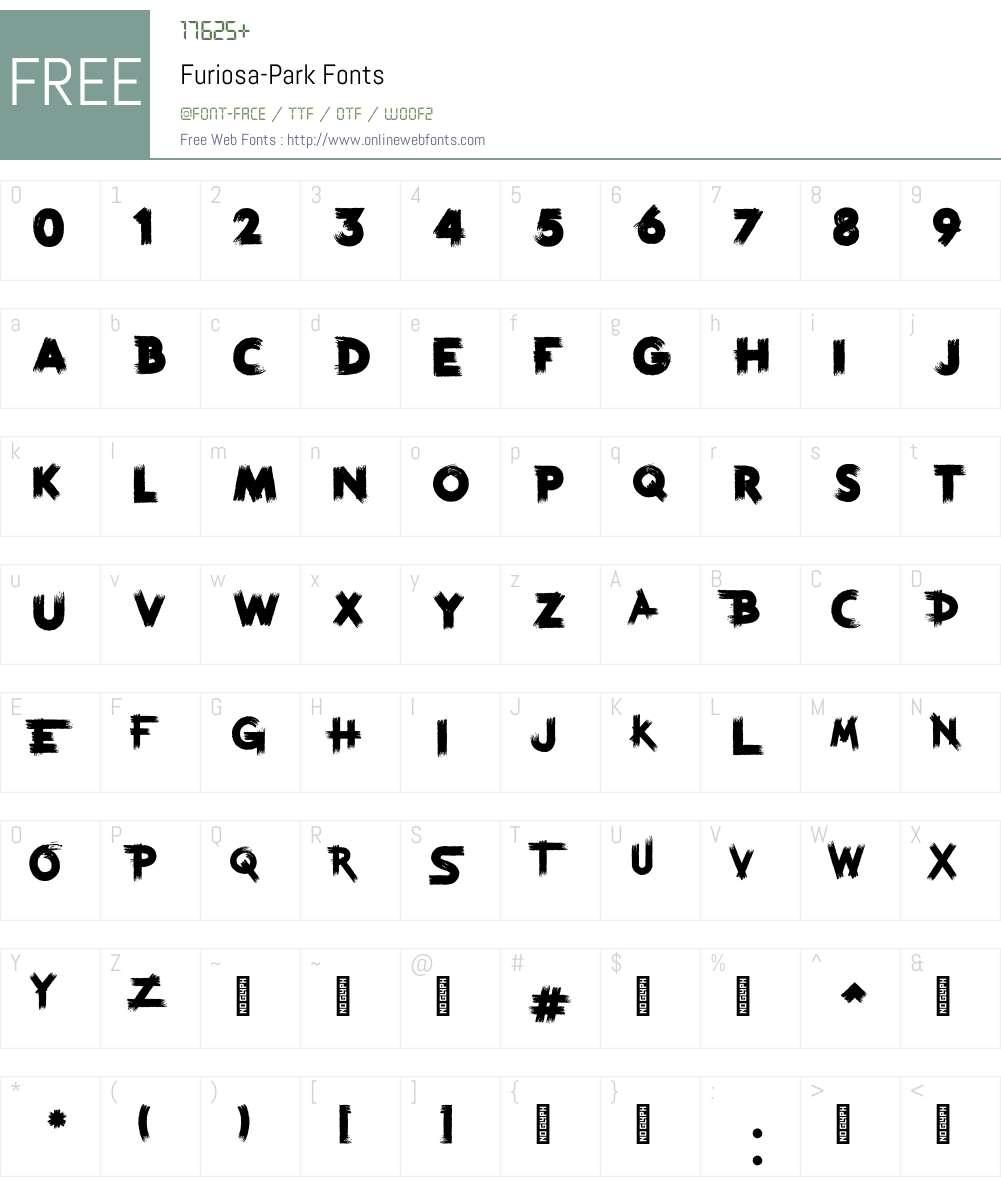 Furiosa Park Font Screenshots
