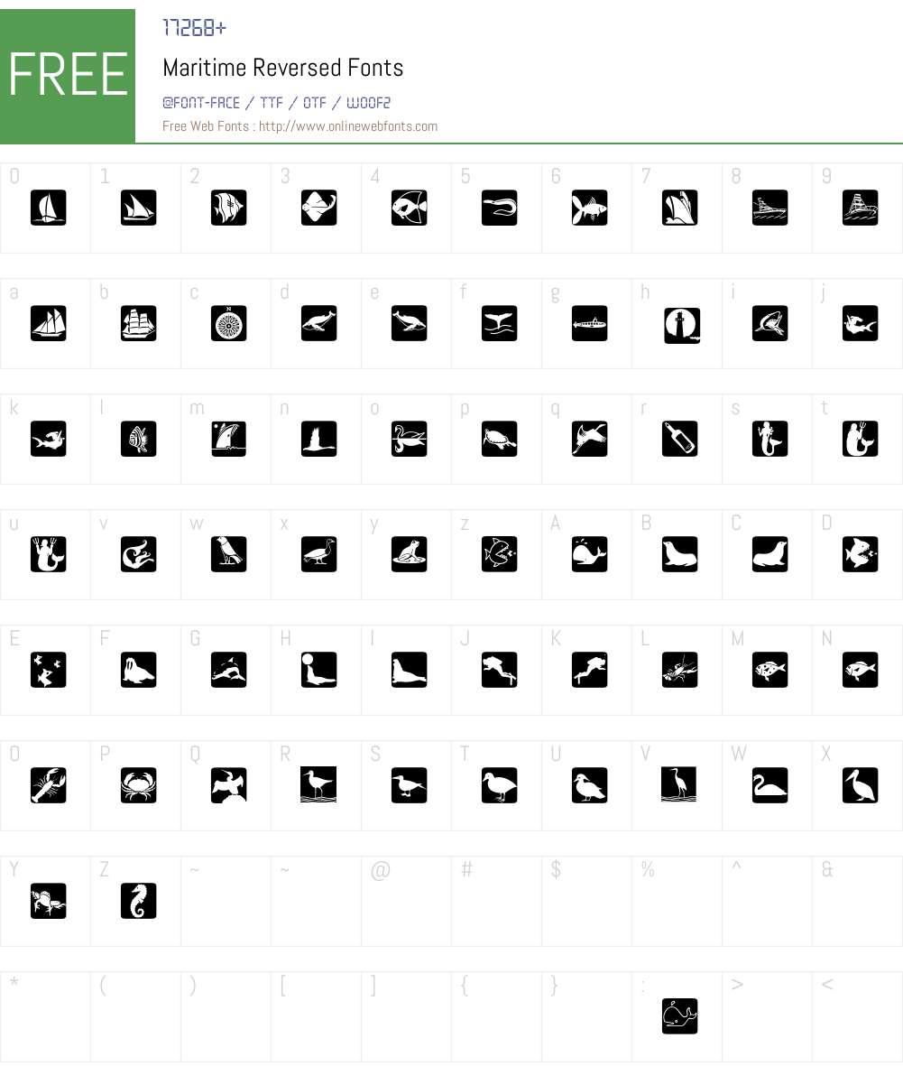 Maritime Reversed Font Screenshots