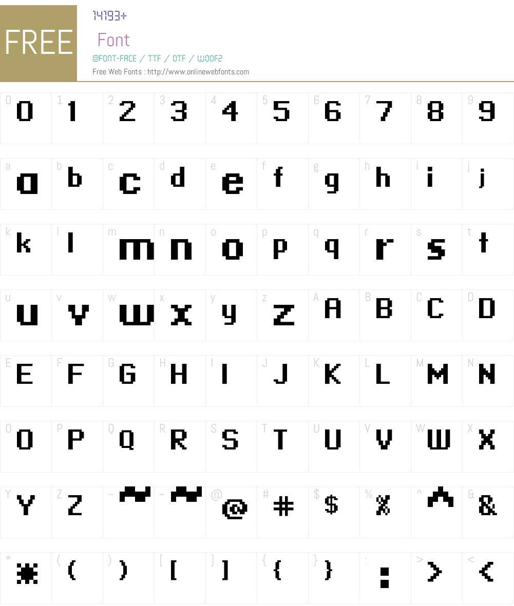 standard 09_66 Font Screenshots