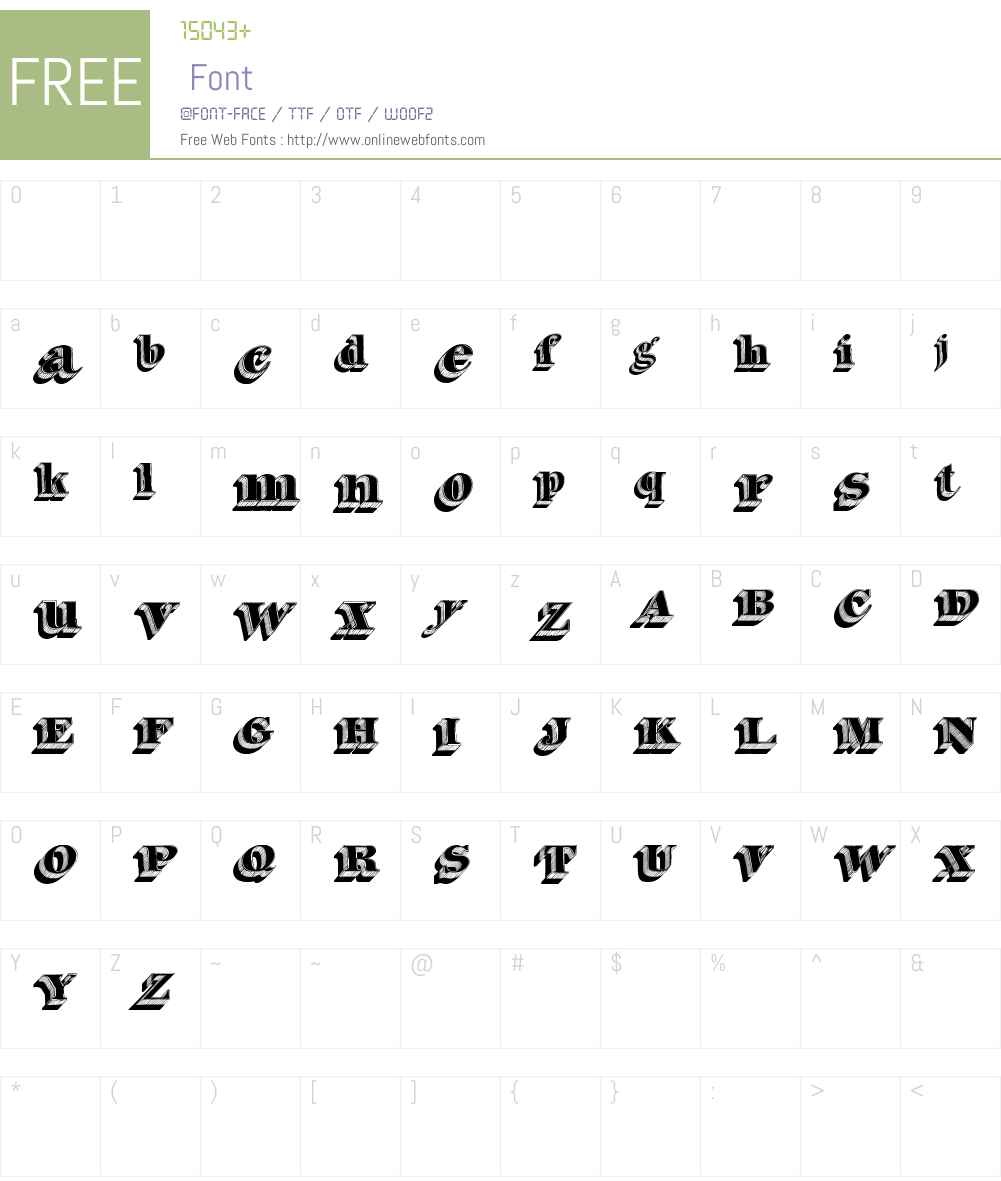 Silvestre Relief Font Screenshots
