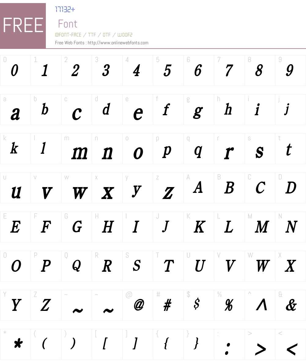Cento Condensed Font Screenshots