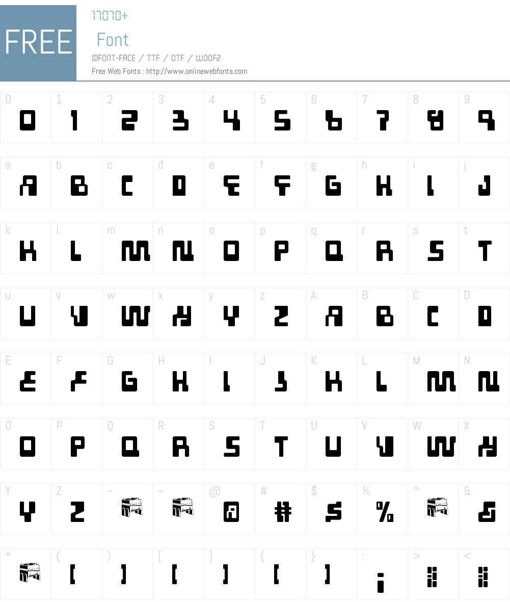 Tabletron Font Screenshots