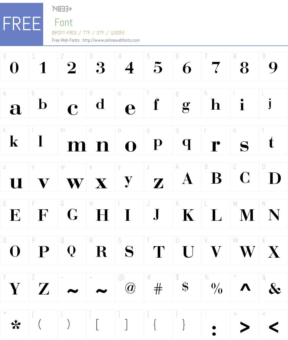 Rothni Font Screenshots