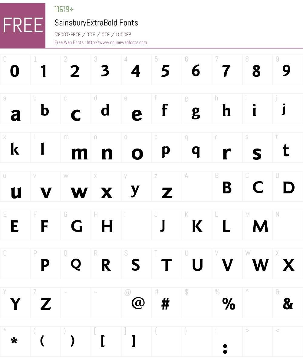 SainsburyExtraBold Font Screenshots