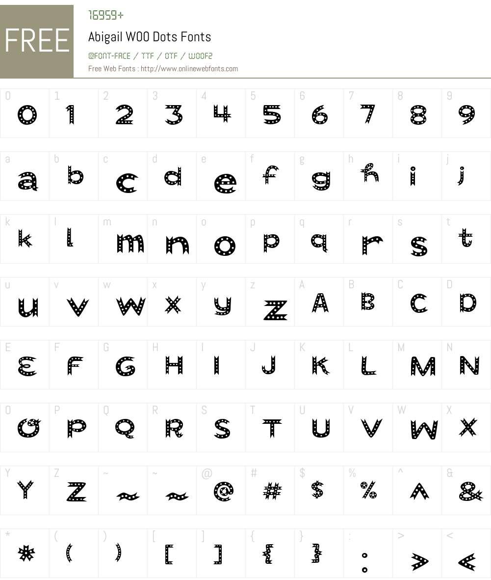 AbigailW00-Dots Font Screenshots