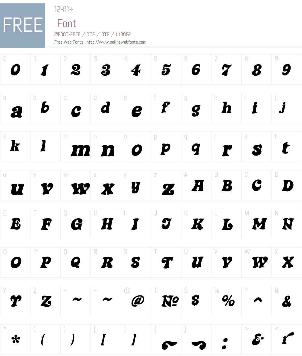 SteinerW01-Special Font Screenshots