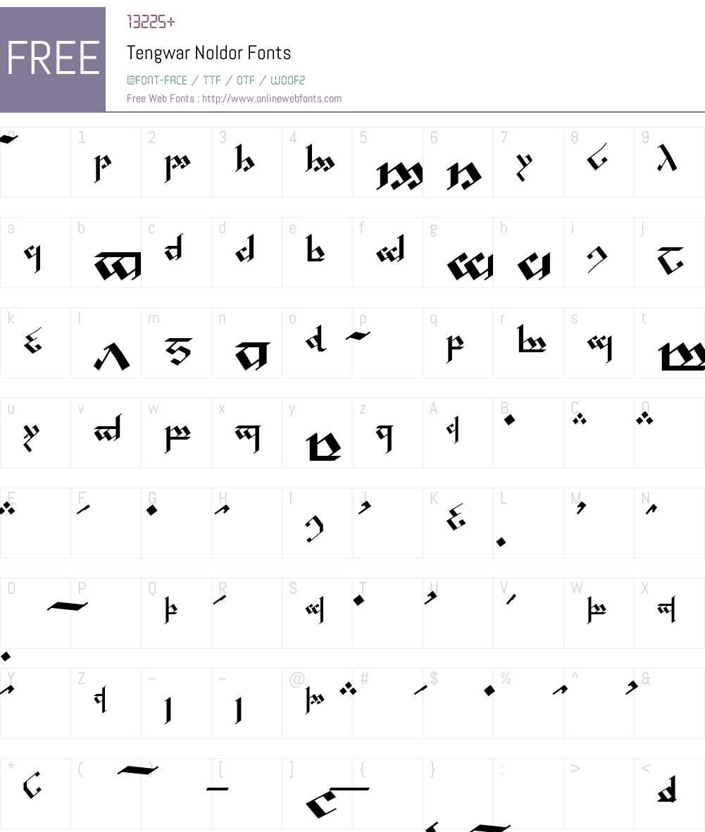 Tengwar Noldor Font Screenshots