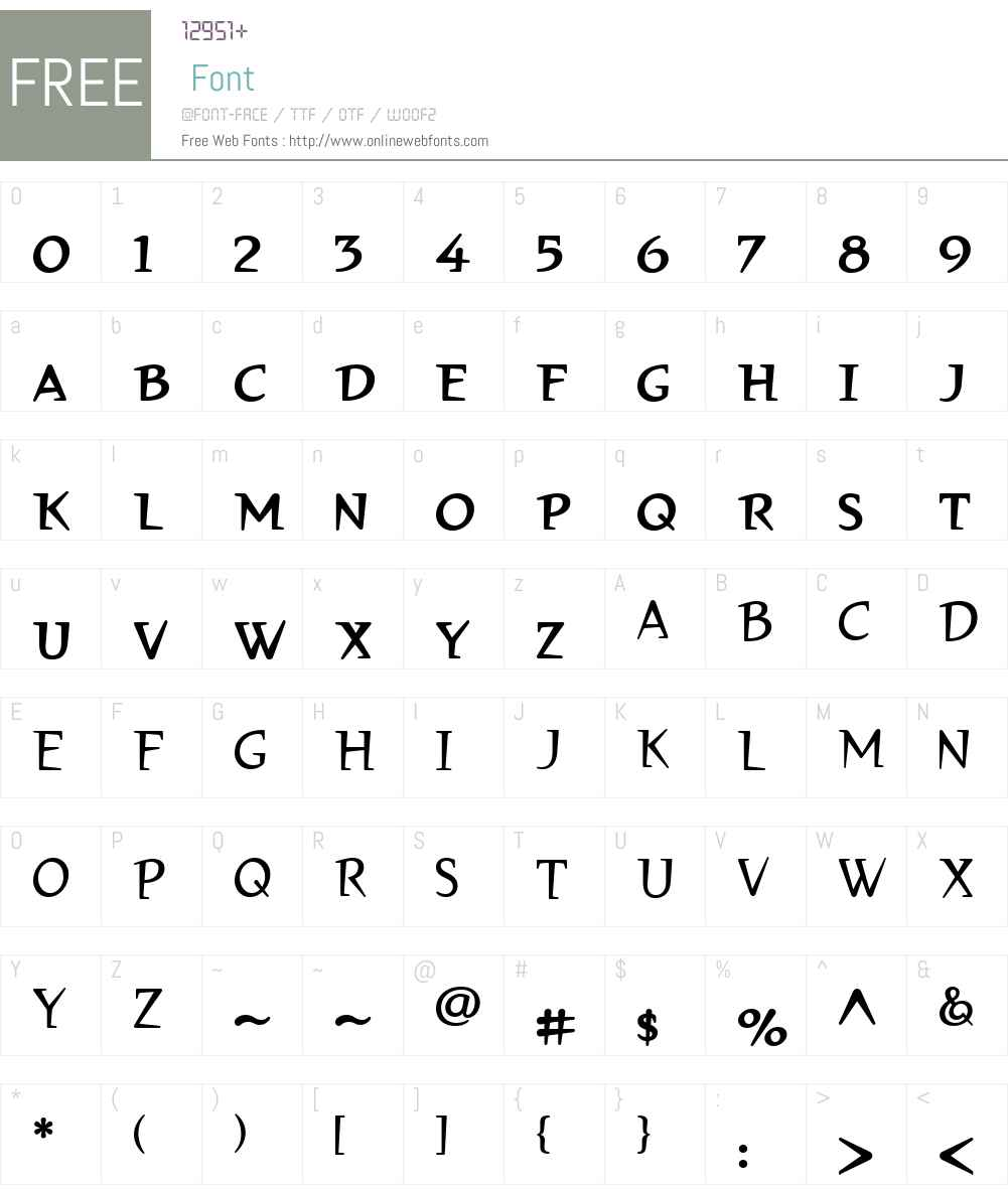 BancroftW01-MediumSC Font Screenshots