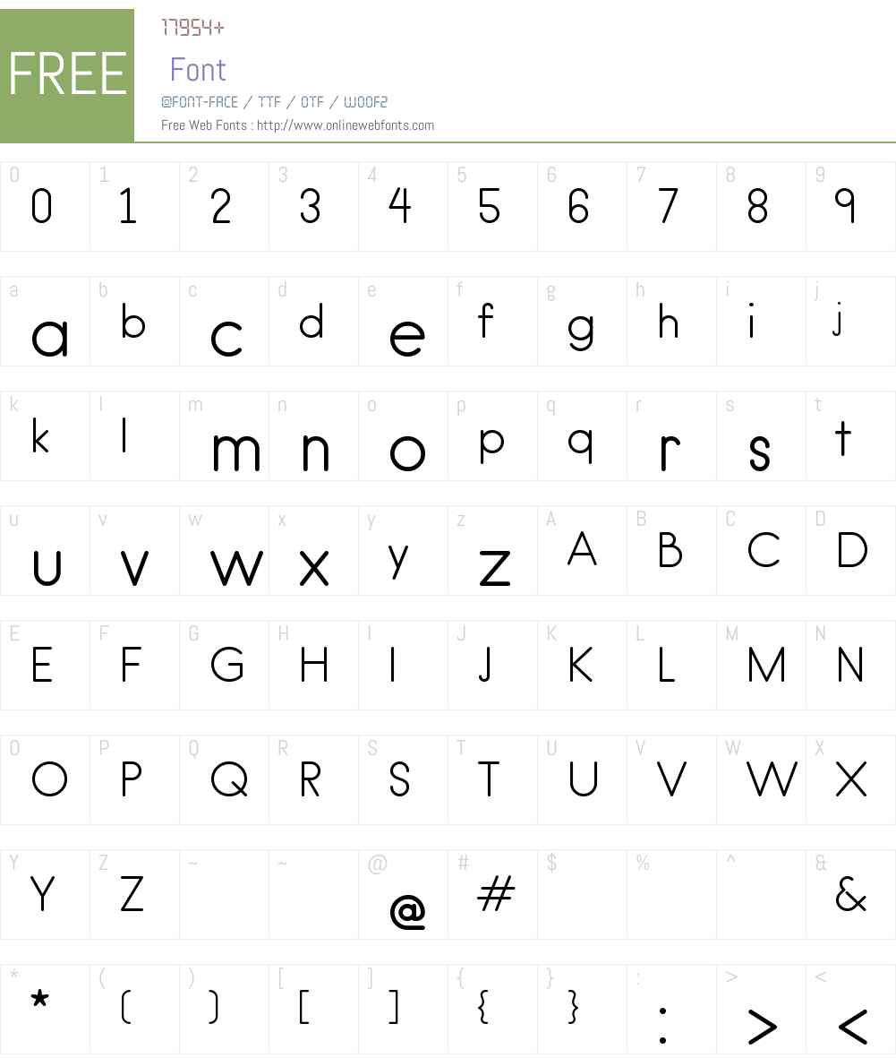 hanken round Font Screenshots