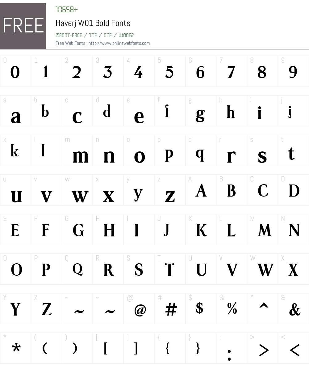 HaverjW01-Bold Font Screenshots