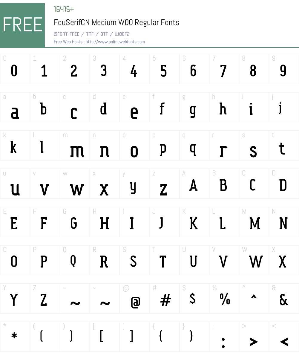 Fou Serif CN Font Screenshots