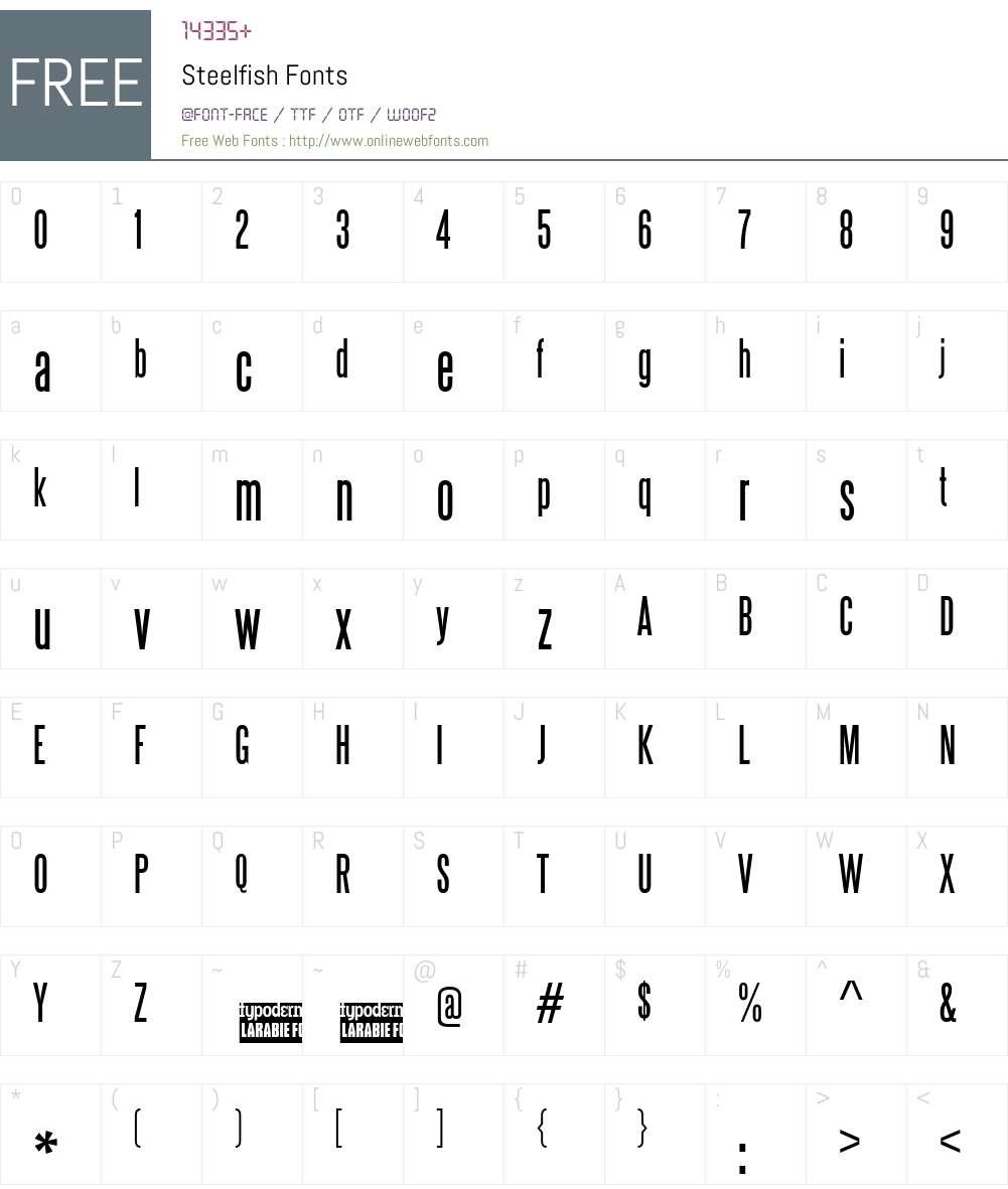 Steelfish Font Screenshots