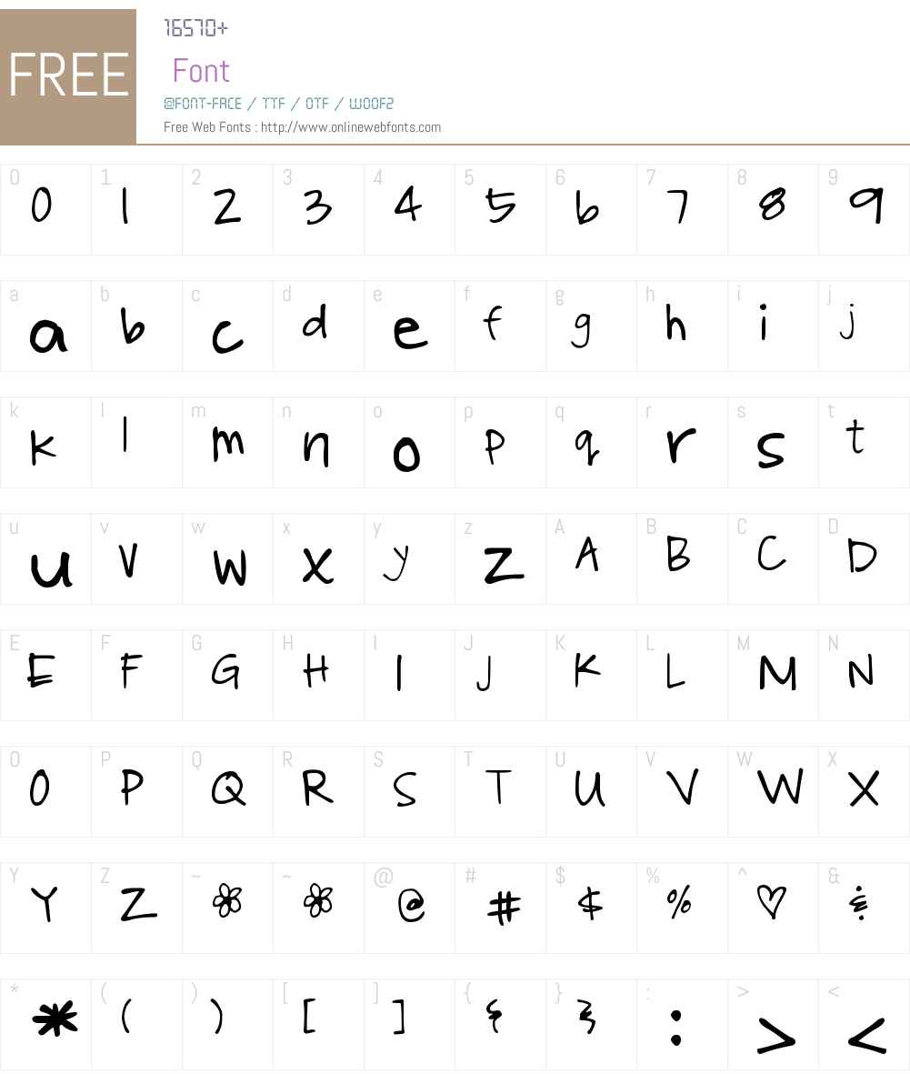 DJB Poppyseed Font Screenshots