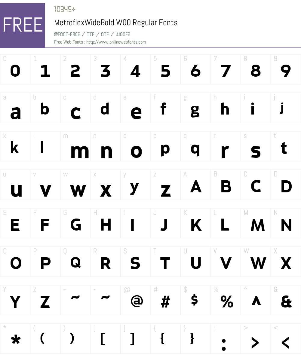 MetroflexWideBoldW00-Rg Font Screenshots