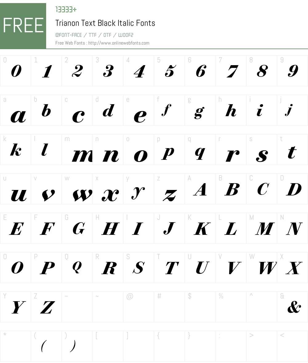 Trianon Text Black Font Screenshots