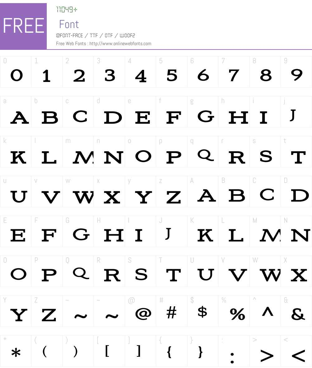 Aviano Slab Regular Font Screenshots