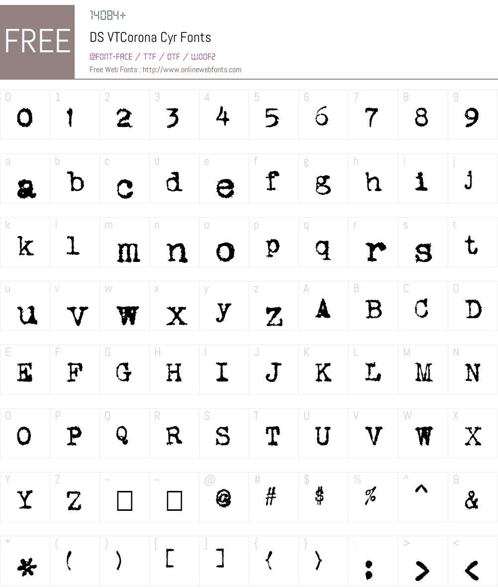 DS VTCorona Cyr Font Screenshots
