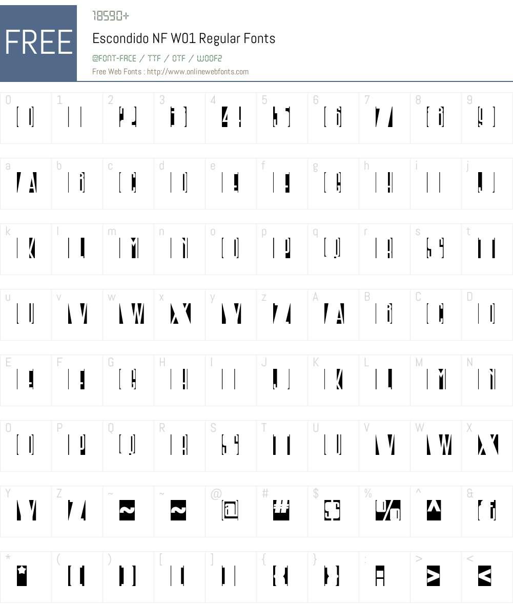 EscondidoNFW01-Regular Font Screenshots