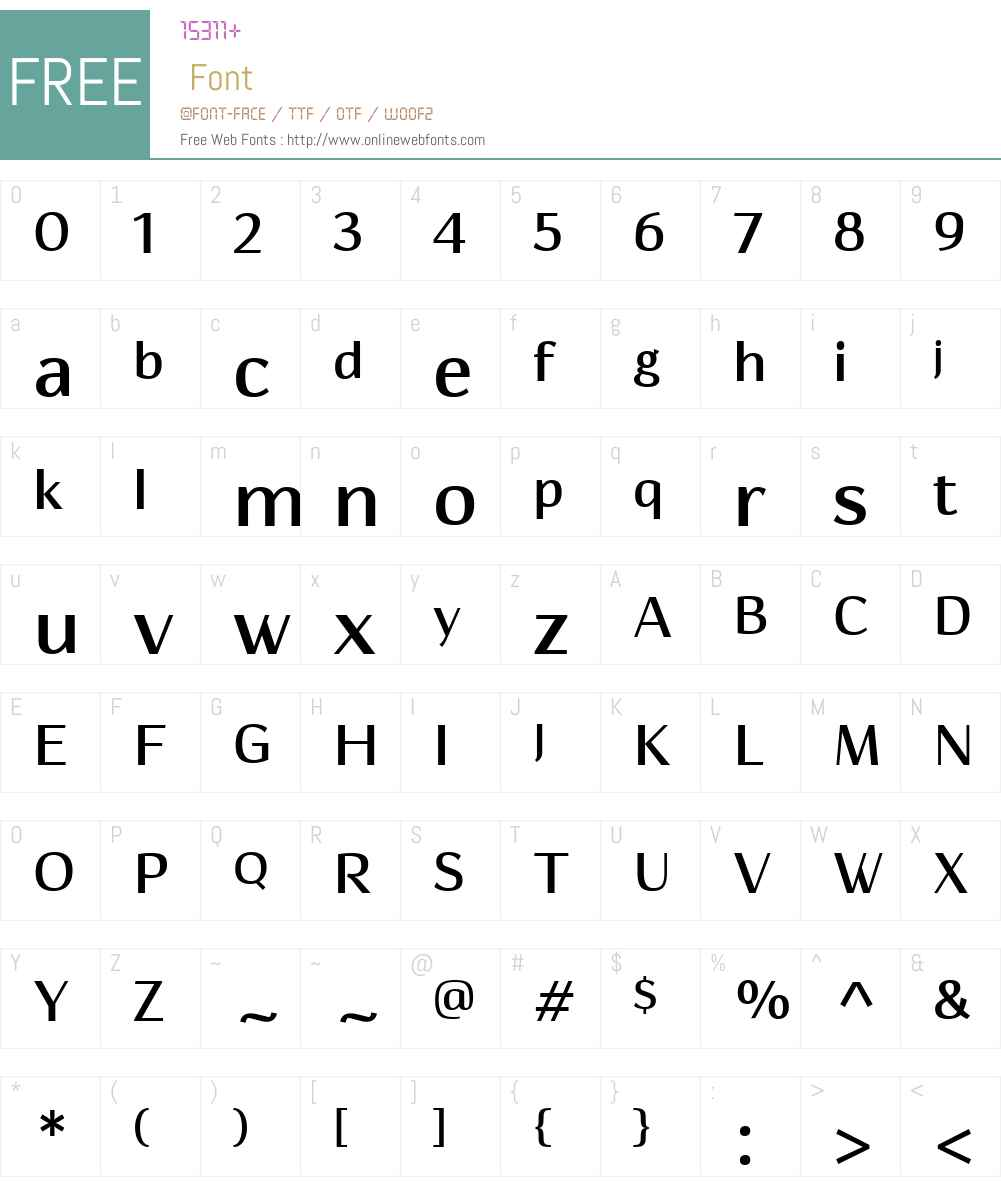 HedonW01-SemiBold Font Screenshots