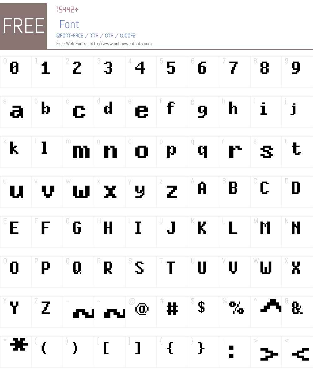 FFF Daylight Bold Extended Font Screenshots