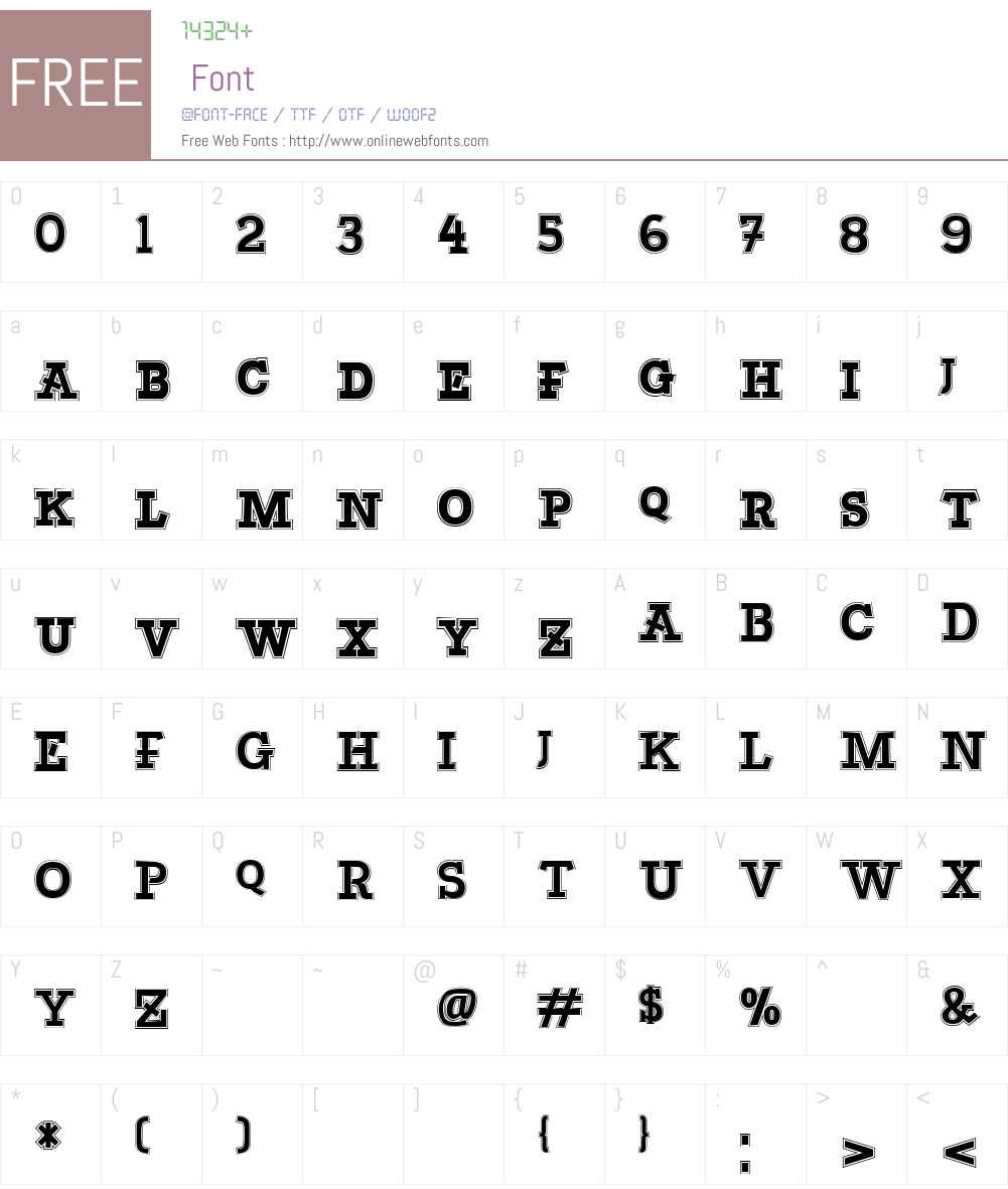 Bascula Font Screenshots