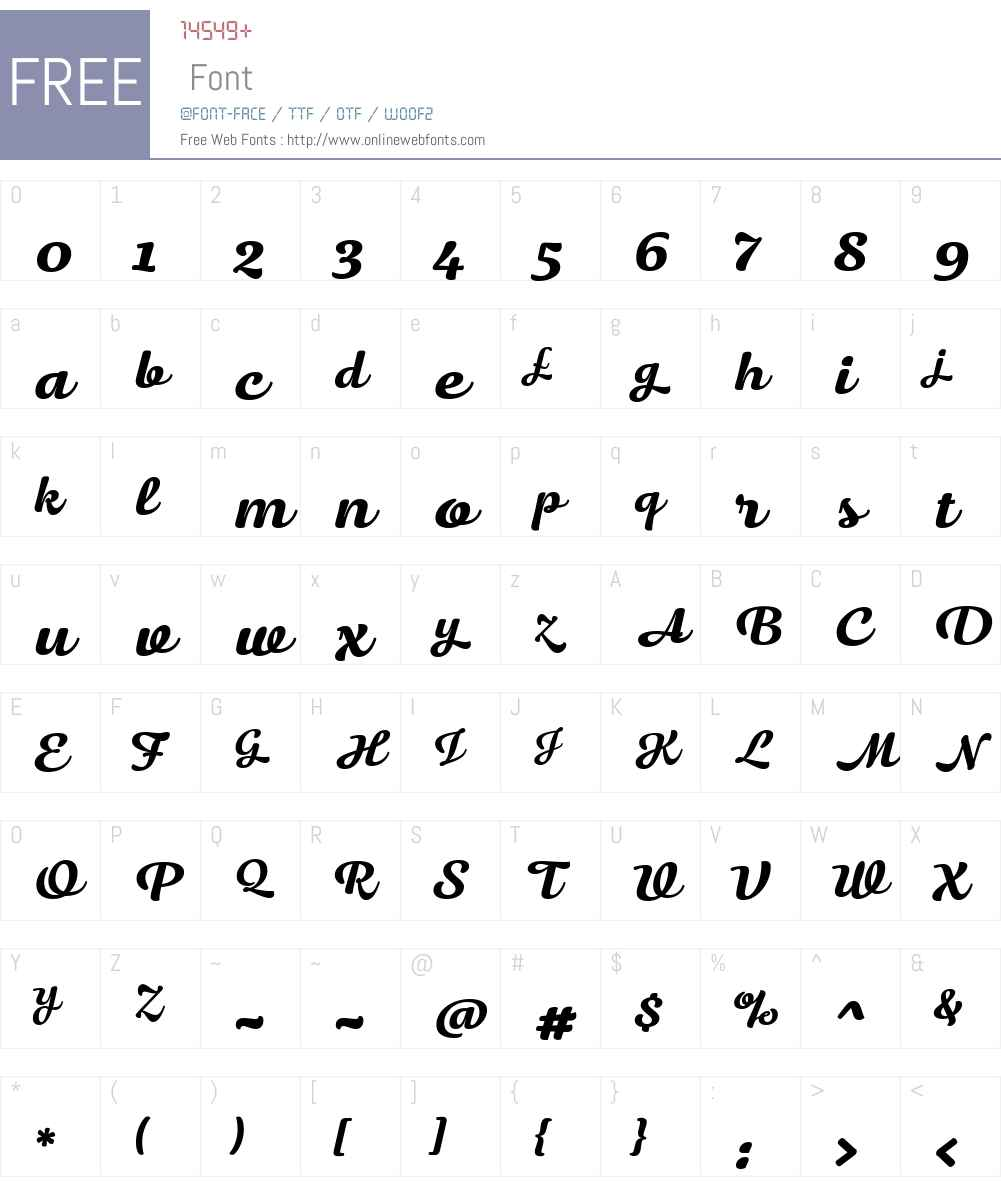 HapticScript-Black Font Screenshots