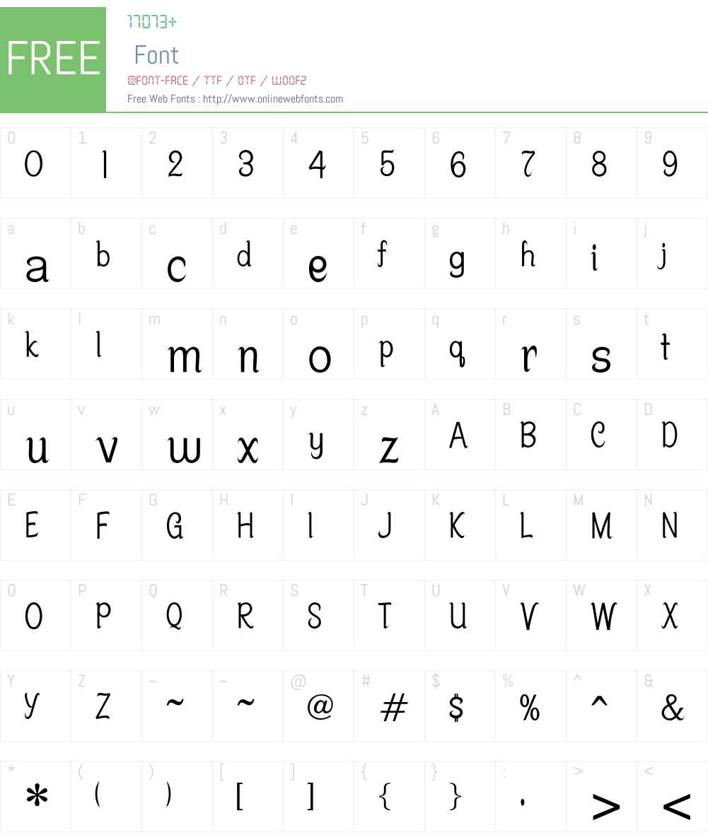 Centime Font Screenshots