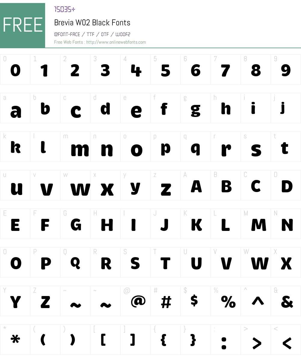 Brevia Font Screenshots