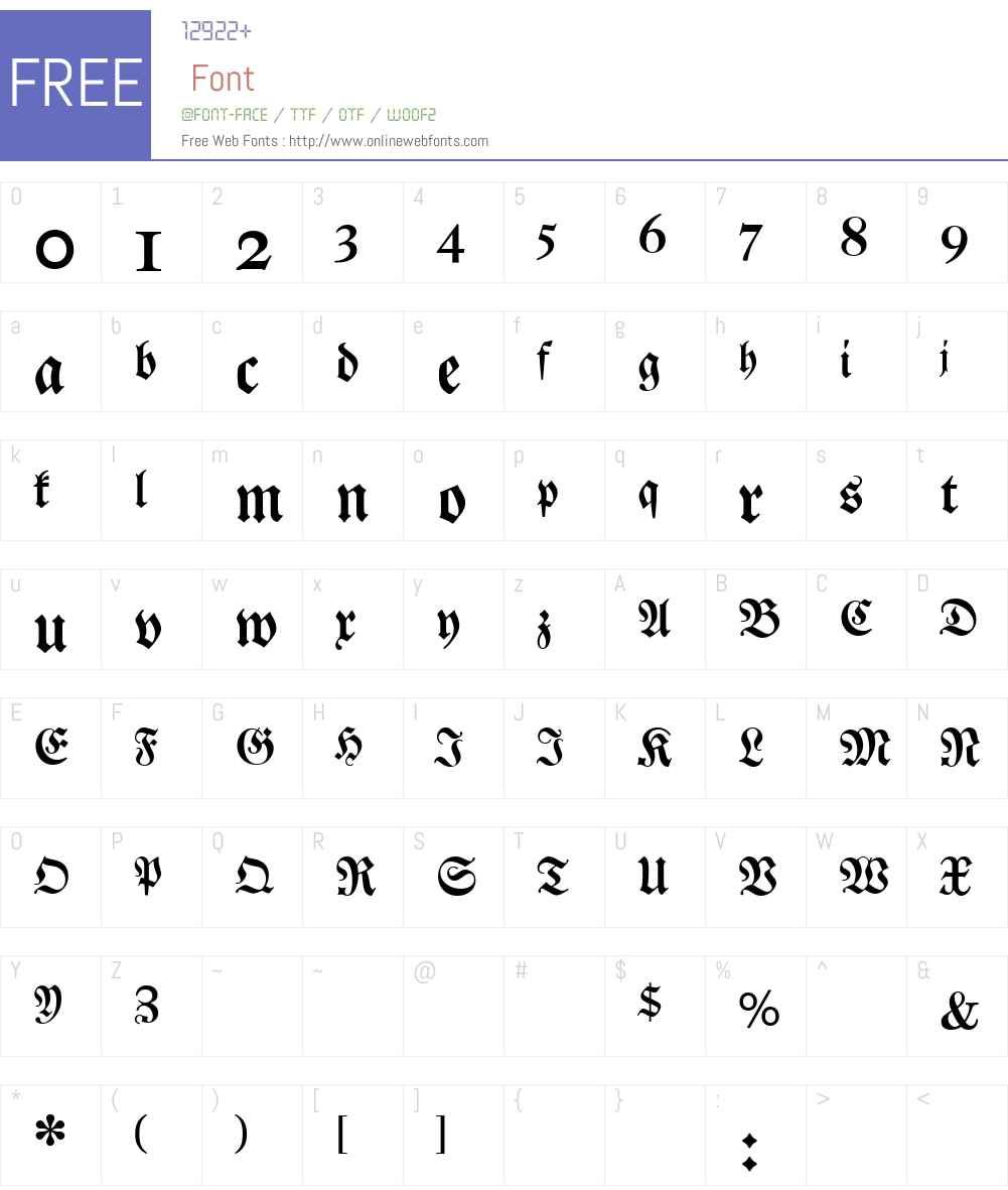 DS Luthersche Halbfett Font Screenshots