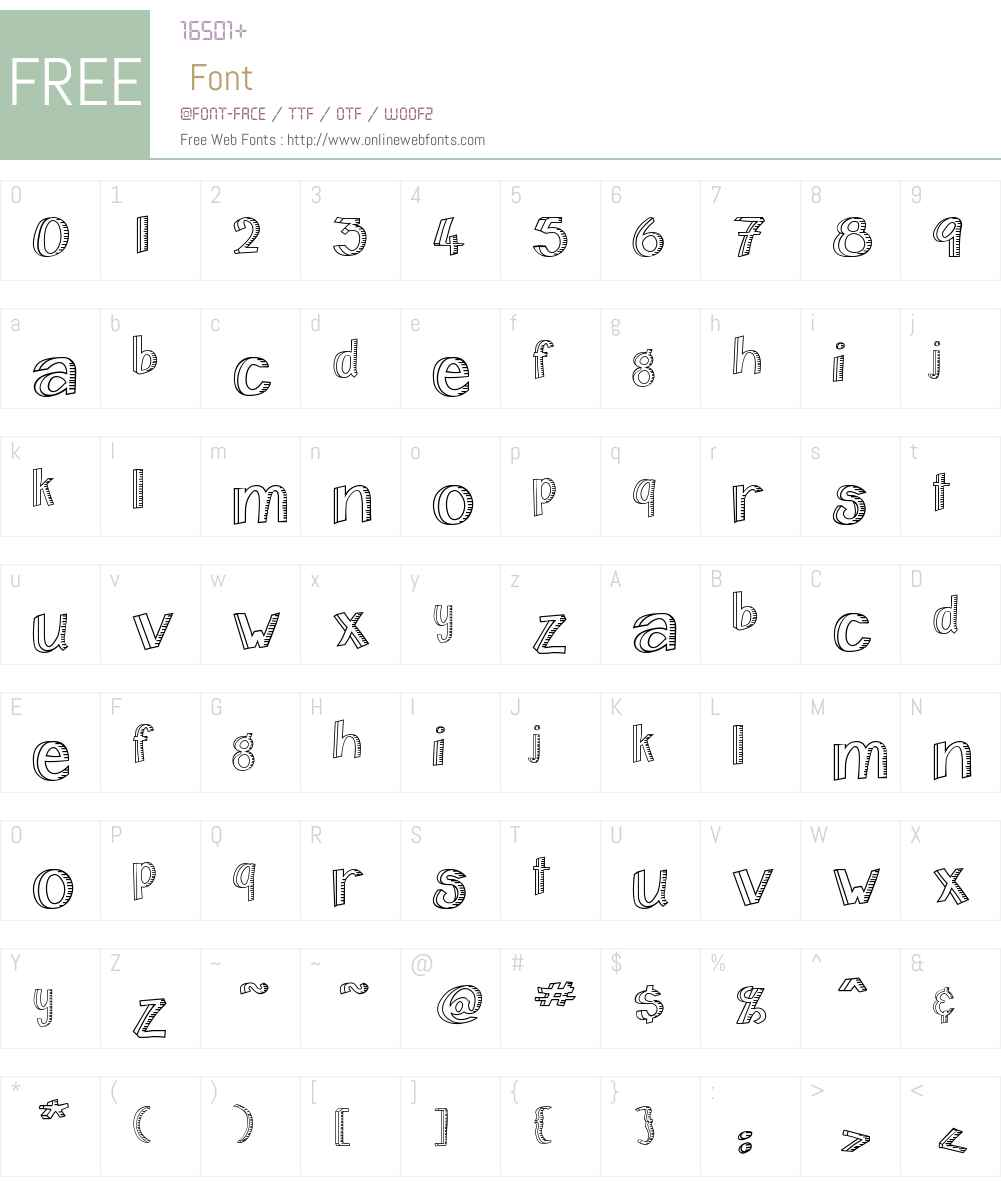 Home&Hearth-Outline Font Screenshots
