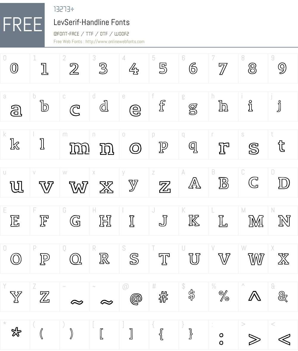 Lev Serif Font Screenshots