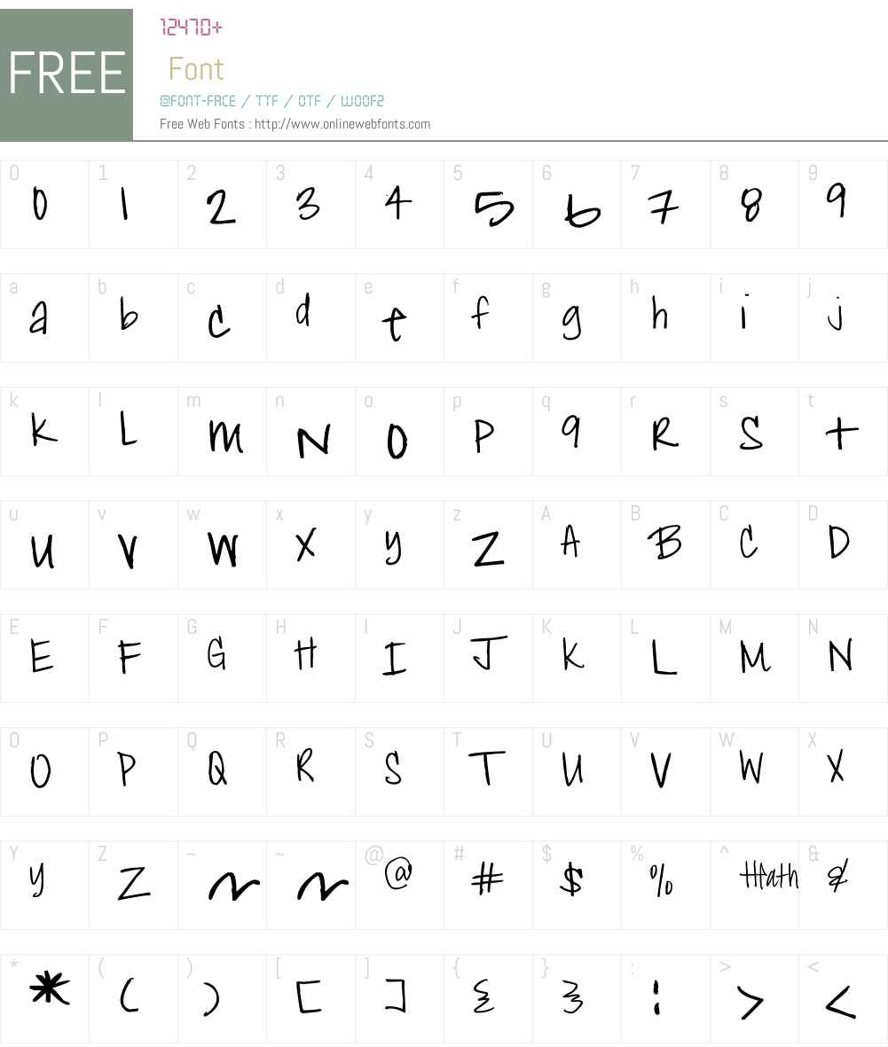 Heather Shibahn Font Screenshots