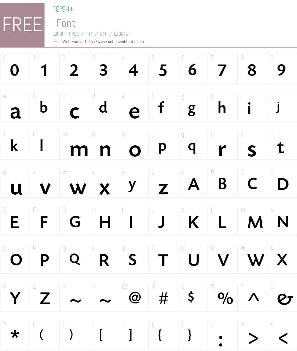 TodaySB-Medium Font Screenshots