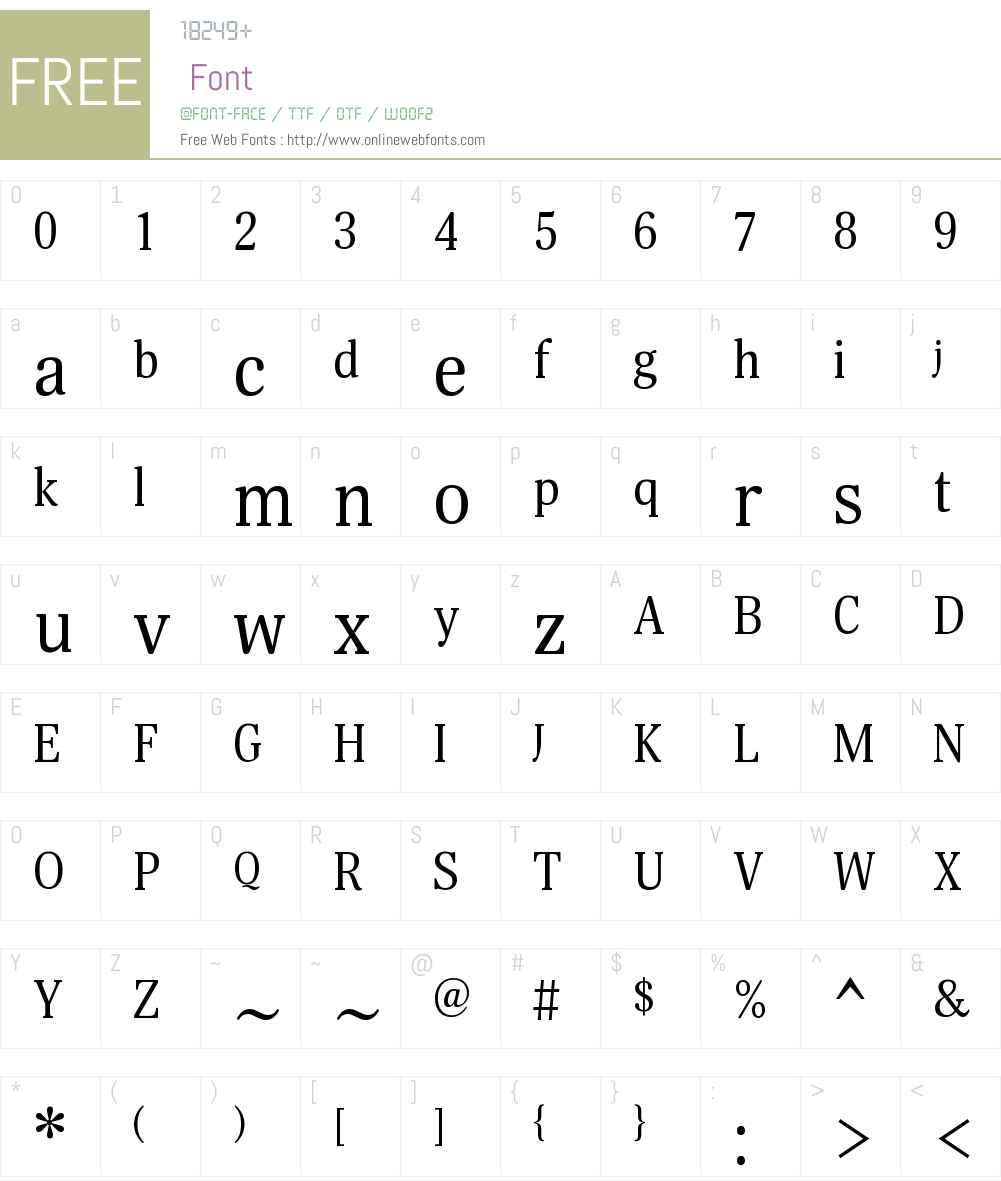 Margon400W08-Regular Font Screenshots