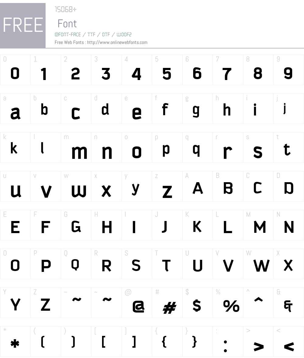 KautivaW01-Bold Font Screenshots