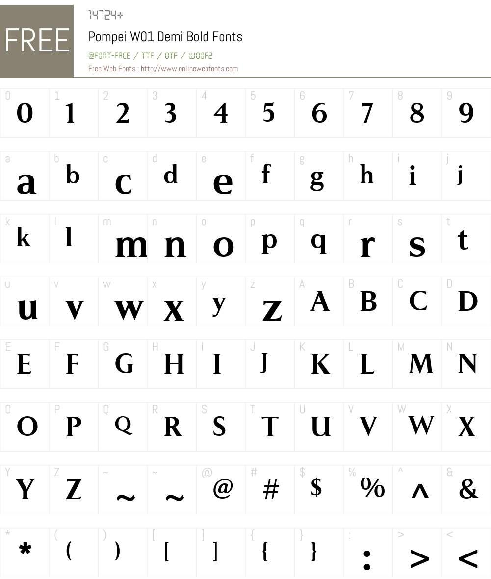 PompeiW01-DemiBold Font Screenshots
