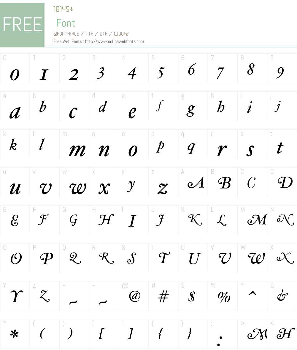 HoeflerText-Italic-Swash Font Screenshots