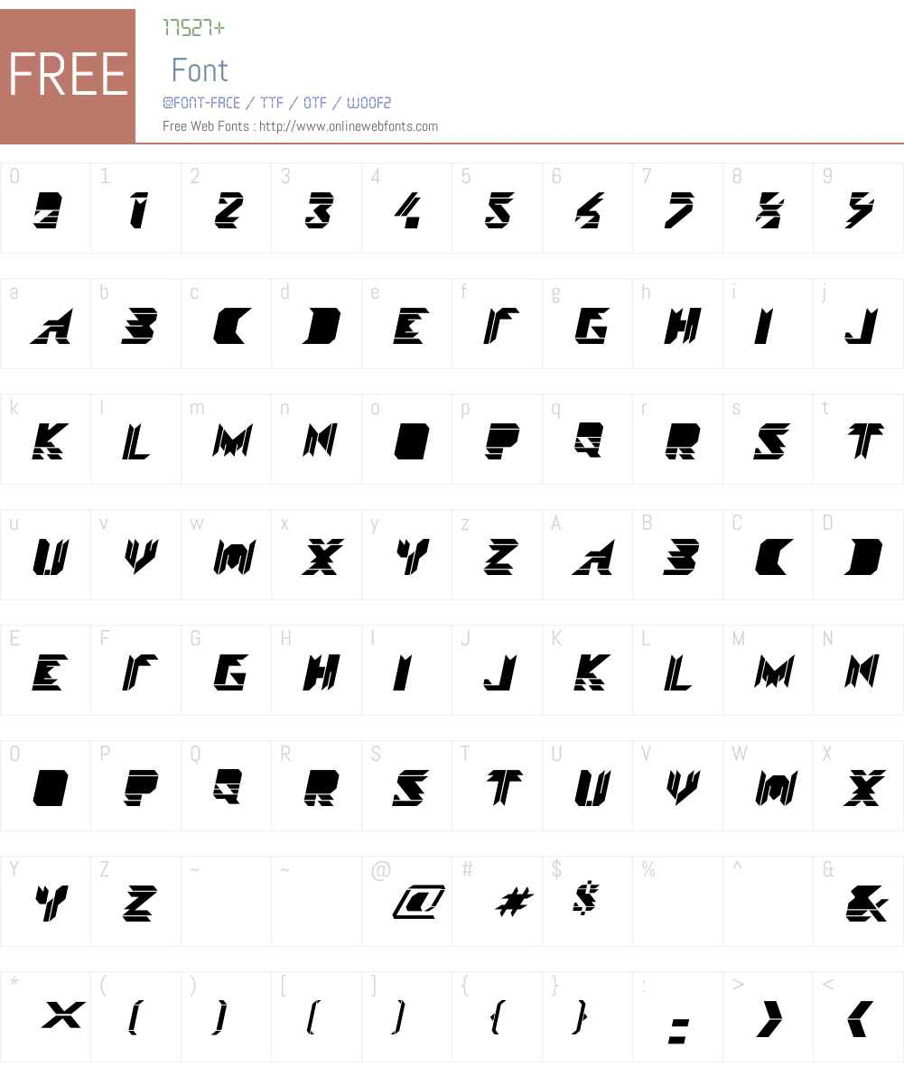 VisokoW00-BlackItalic Font Screenshots