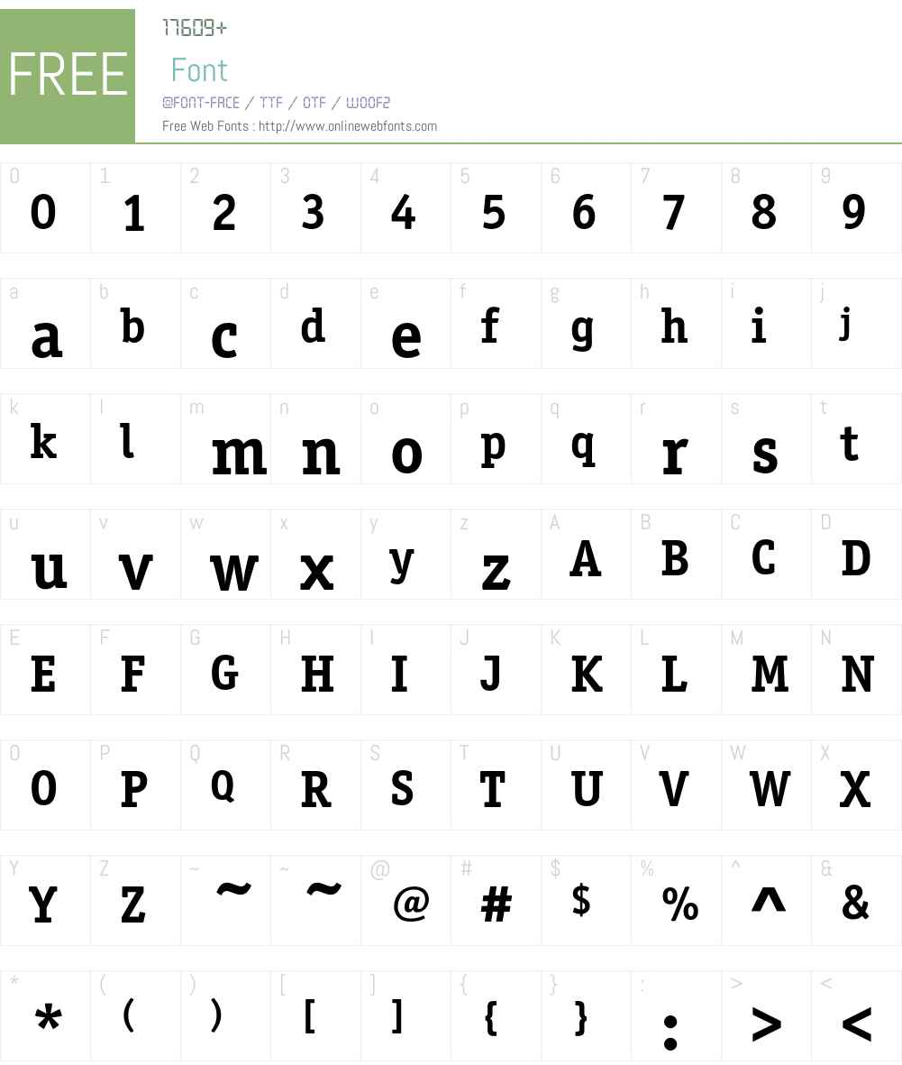 OfficinaSerifEF Font Screenshots