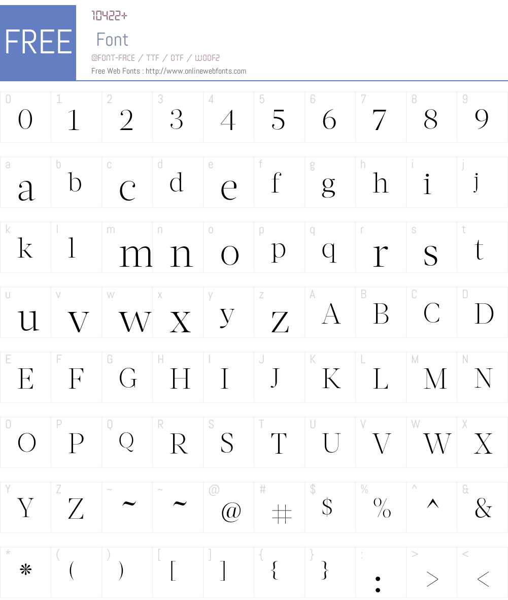 Acta Display Font Screenshots