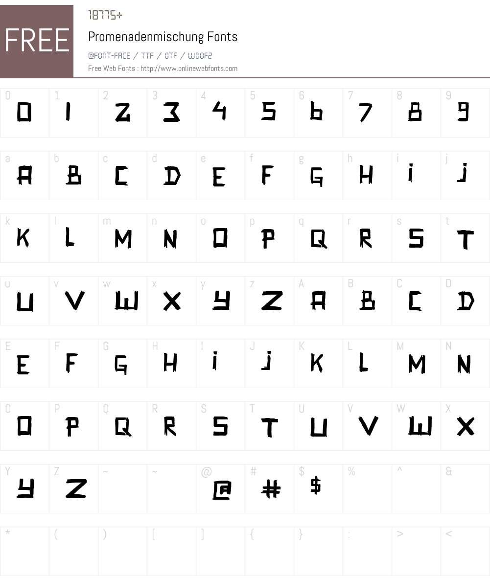Promenadenmischung Font Screenshots