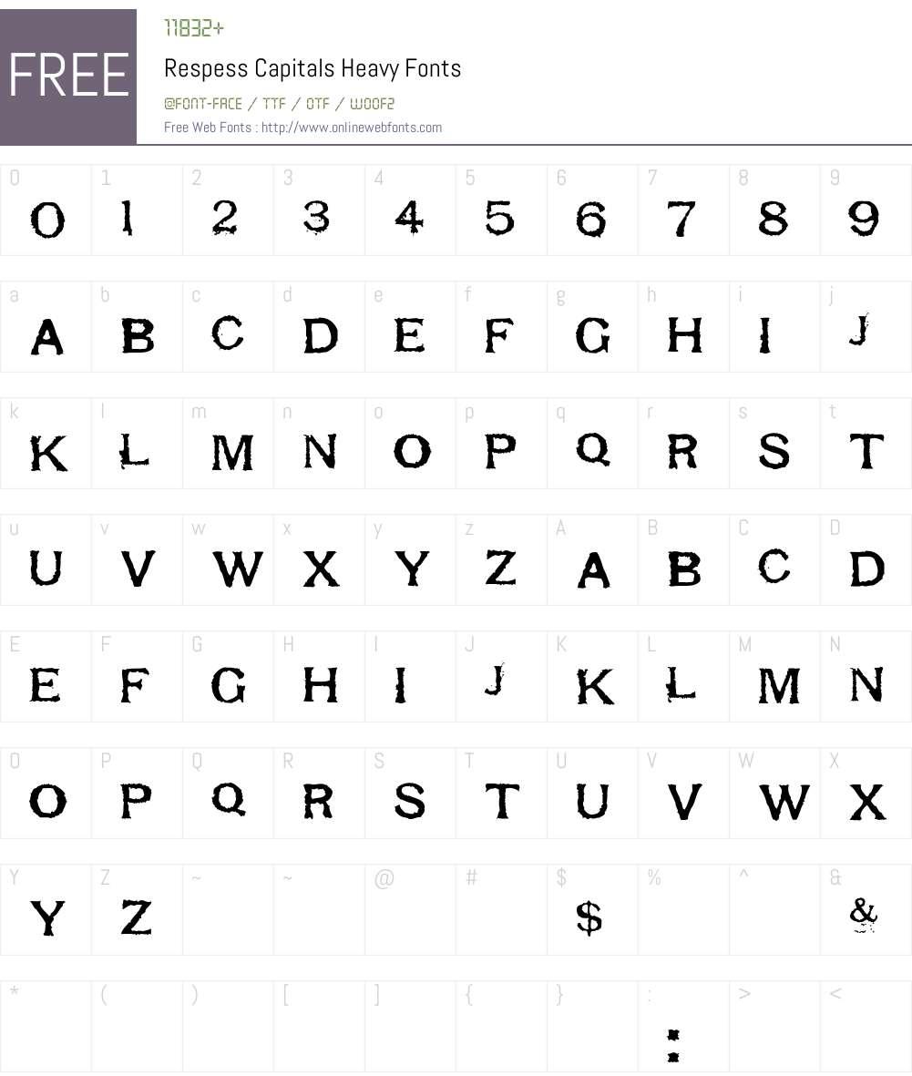 Respess Capitals Heavy Font Screenshots