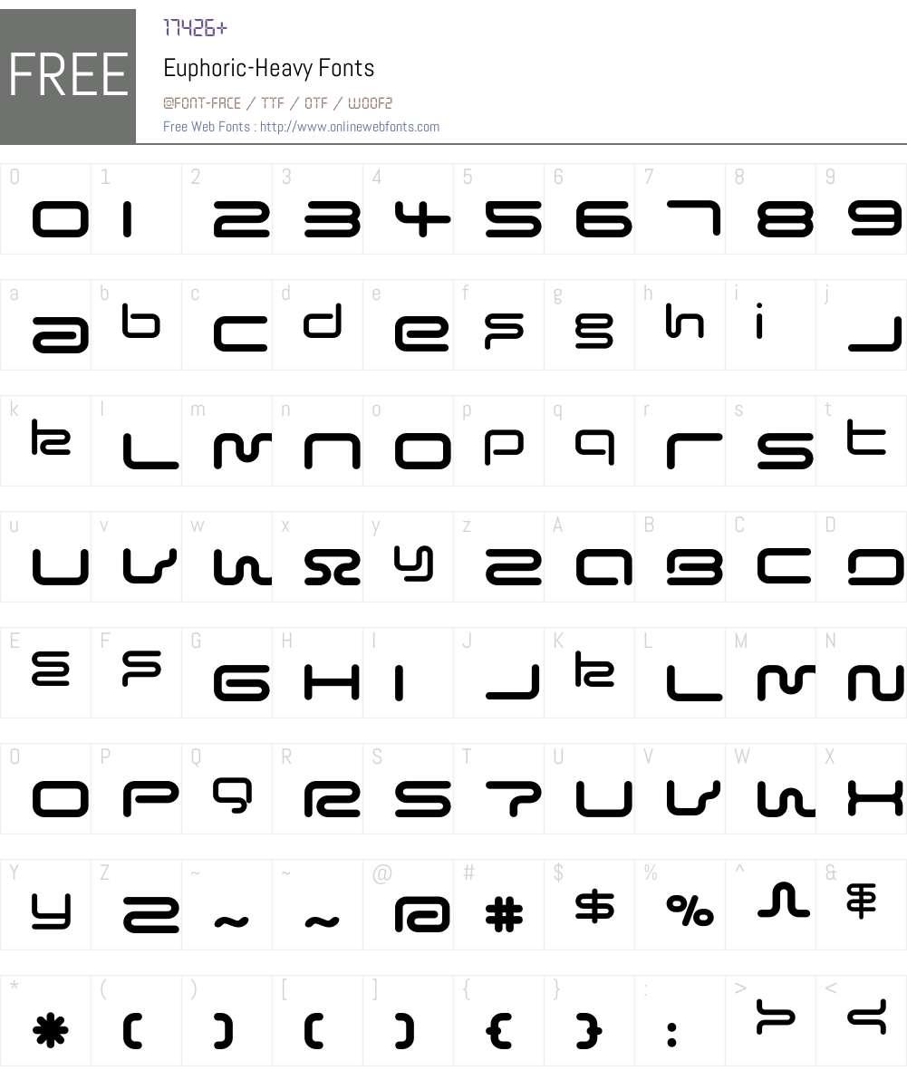 Euphoric Font Screenshots