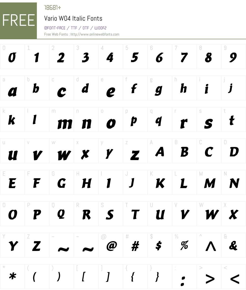 Vario Font Screenshots