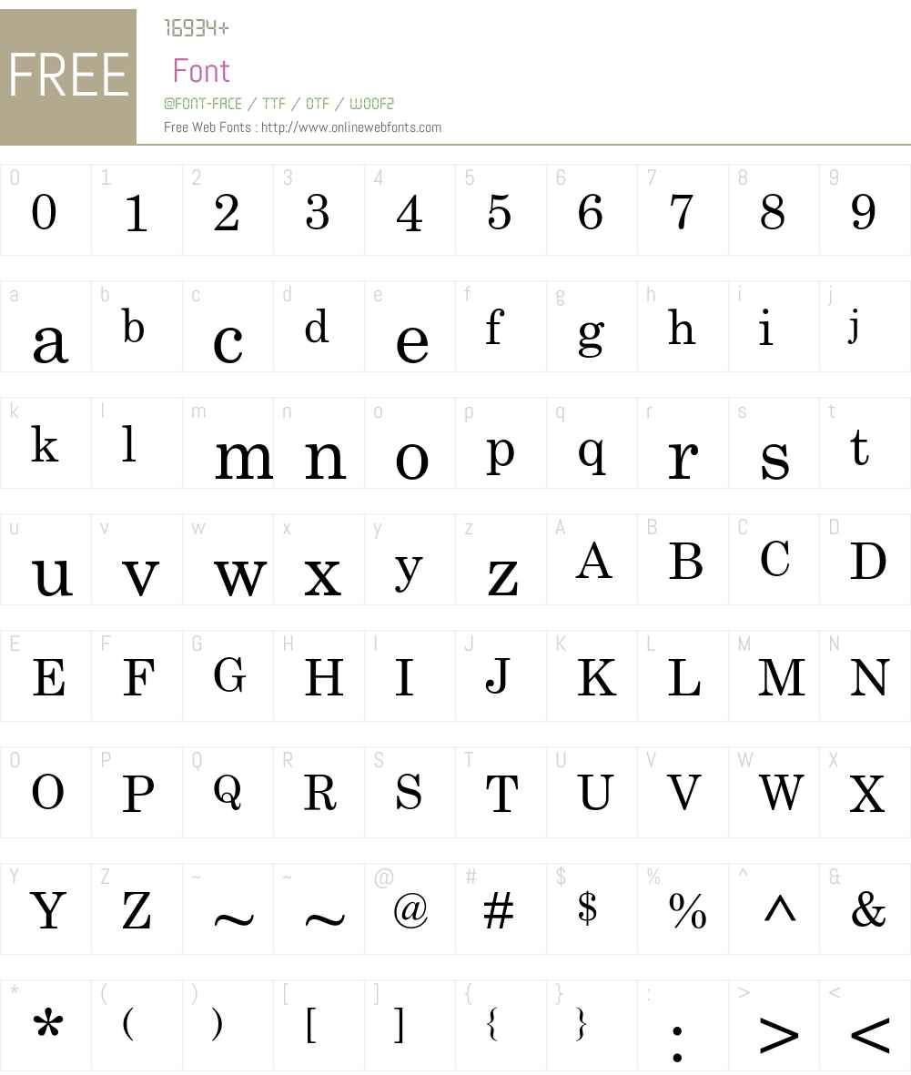 Century Schoolbook Std Font Screenshots