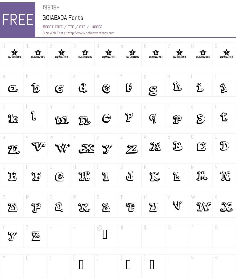 GOIABADA Font Screenshots