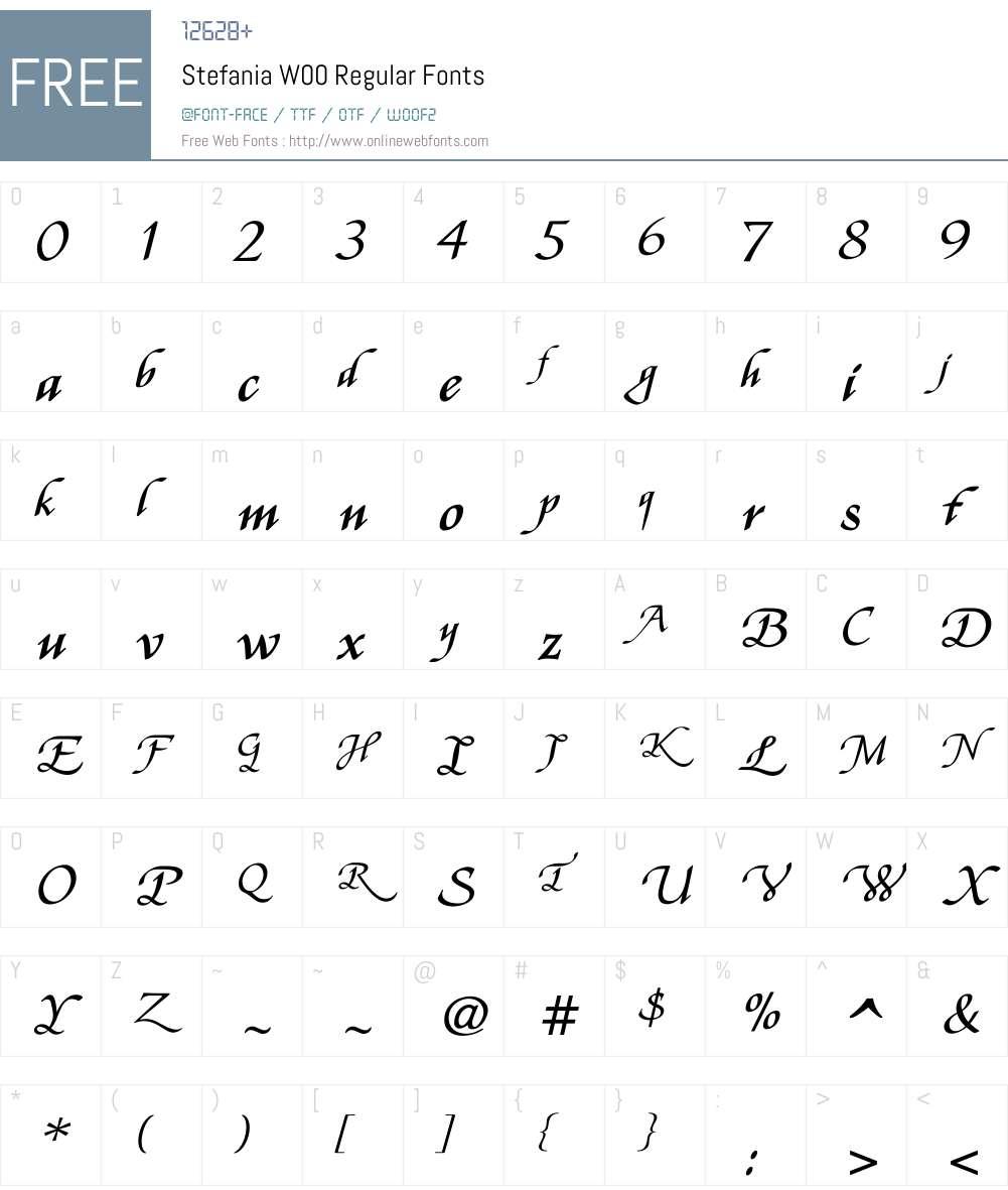 StefaniaW00-Regular Font Screenshots